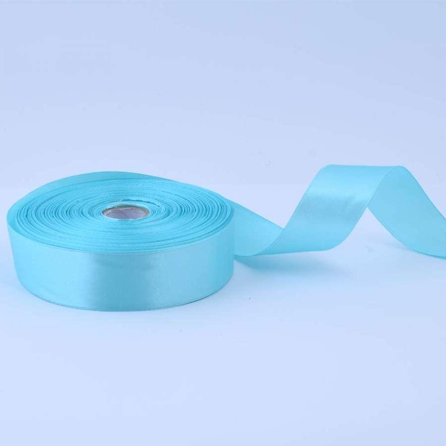 Лента атласная 25мм голубая А1-08-011 на метраж (бобина 50яр/119г)