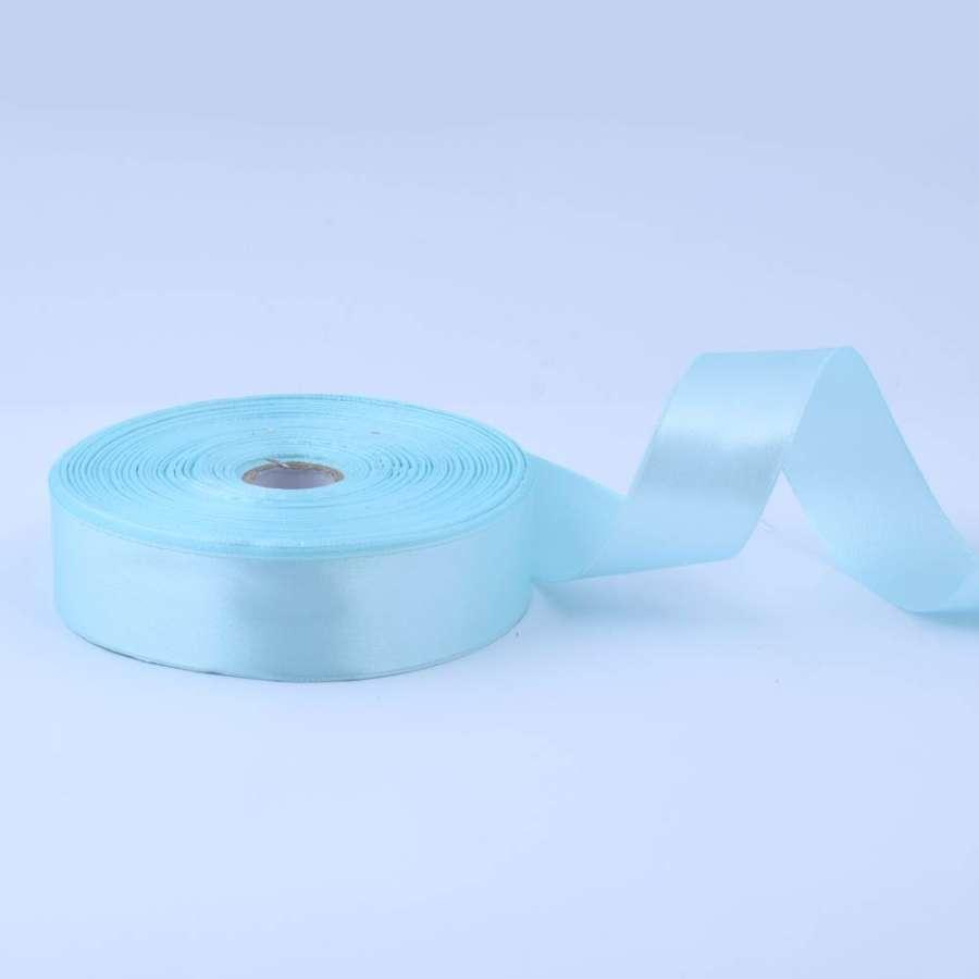 Лента атласная 25мм голубая светлая А1-08-013 на метраж (бобина 50яр/119г)