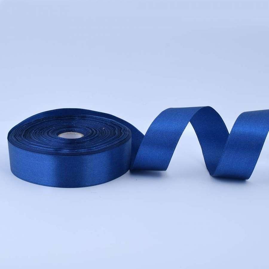 Лента атласная 25мм синяя А1-08-038 на метраж (бобина 50яр/119г)