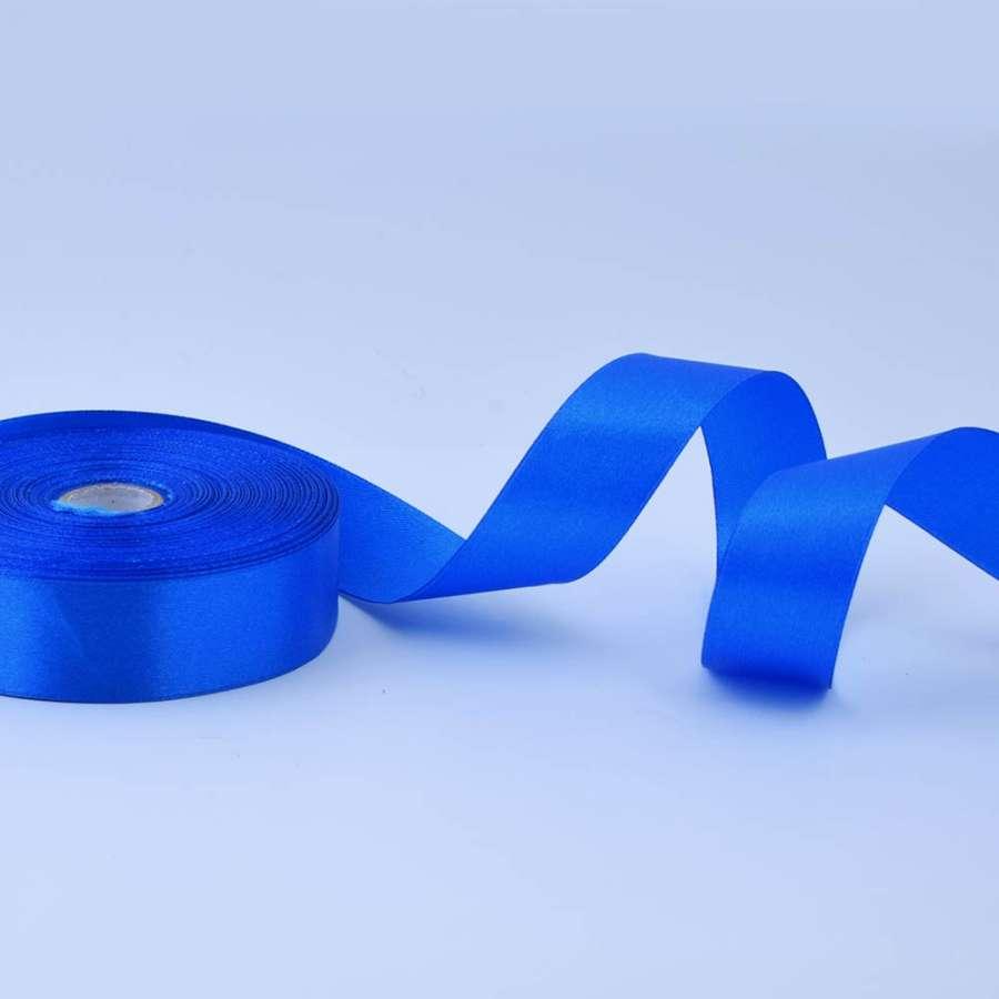 Лента атласная 25мм сине-голубая А1-08-040 на метраж (бобина 50яр/119г)