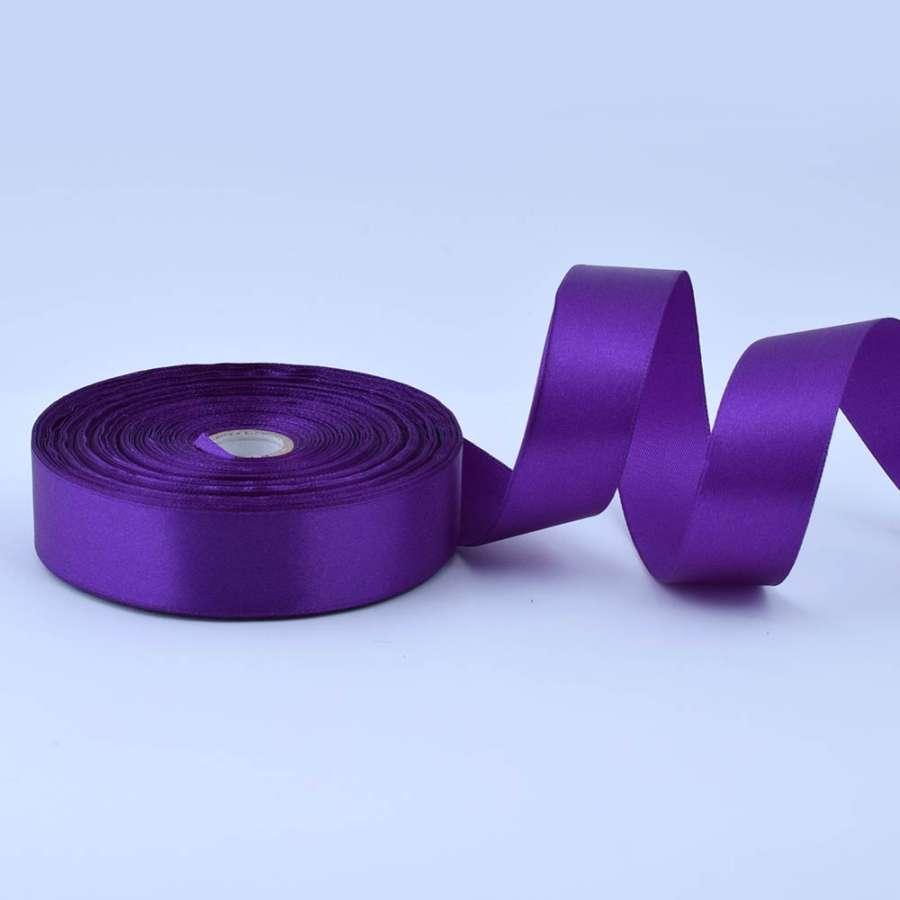Лента атласная 25мм фиолетовая А1-08-046 на метраж (бобина 50яр/119г)