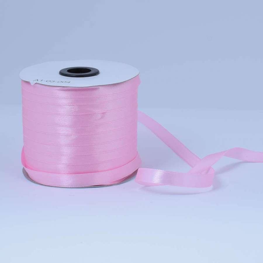 Лента атласная 10мм розовая А1-03-004 на метраж (бобина 230яр/193,70г)