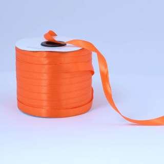Стрічка атласна 10мм помаранчева яскрава А1-03-025 на метраж (бобіна 230яр / 193,70г)