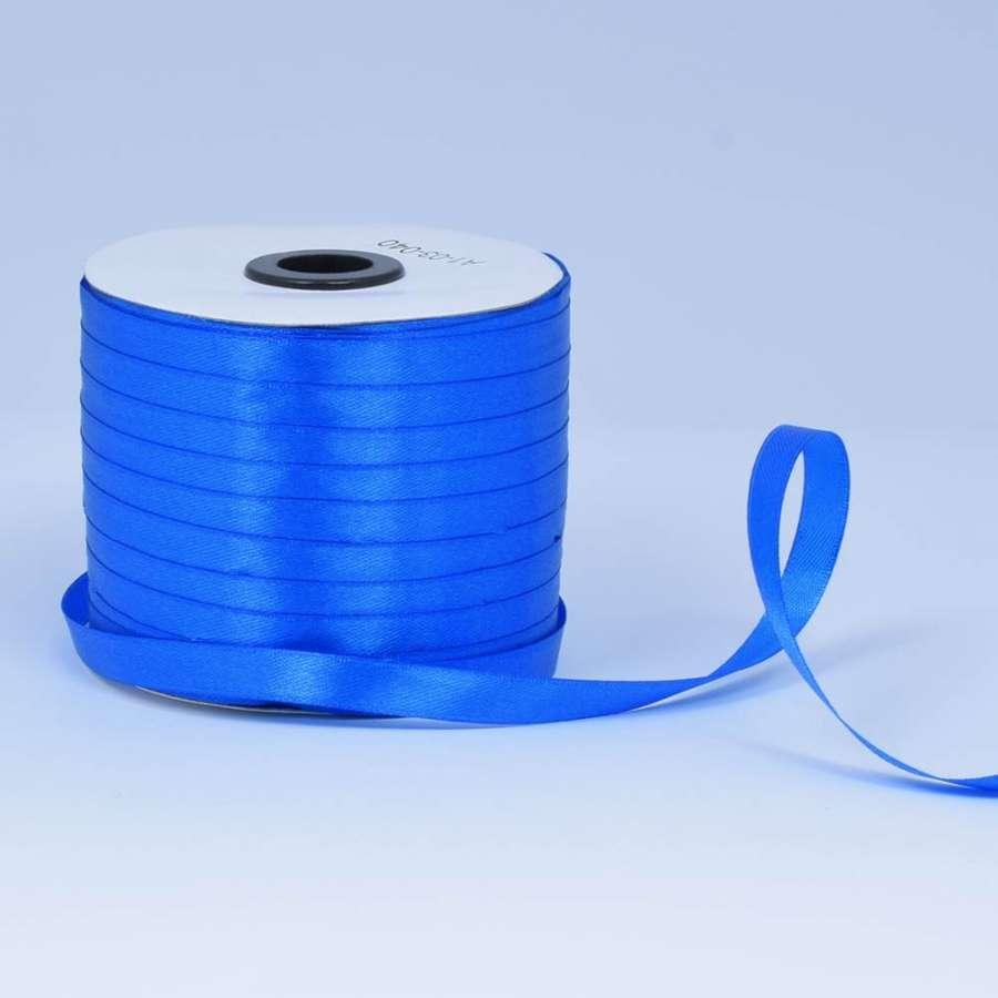 Лента атласная 10мм синя ультрамарин А1-03-040 на метраж (бобина 230яр/193,70г)