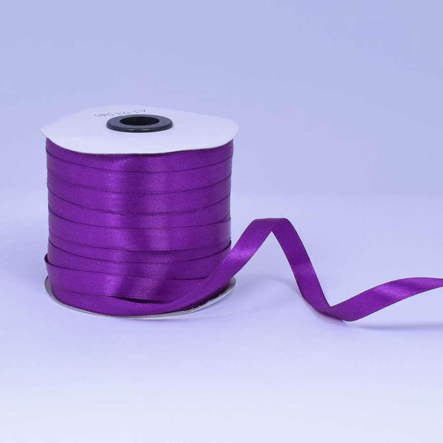 Лента атласная 10мм фиолетовая А1-03-046 на метраж (бобина 230яр/193,70г)