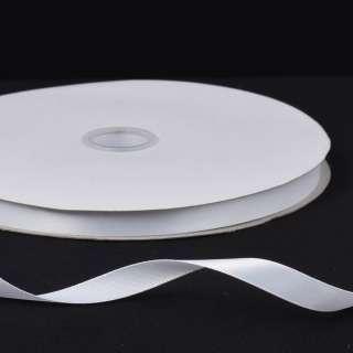 Лента атласная 10мм белая А2-03-001 на метраж (бобина 100яр/158г)
