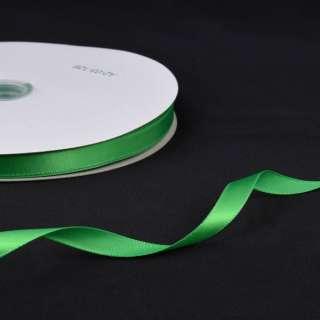 Стрічка атласна 10мм зелена А2-03-126 на метраж (бобіна 100яр / 158г)