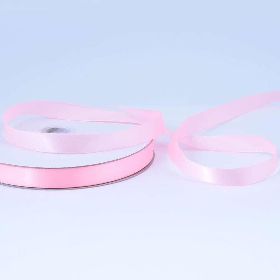 Лента атласная 15мм розовая светлая А2-05-013 на метраж (бобина 100яр/230г)