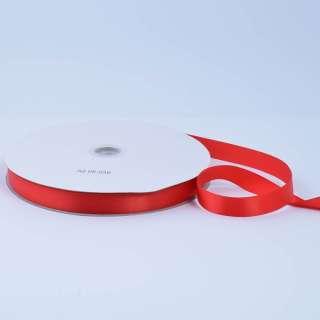 Стрічка атласна 15мм червона А2-05-039 на метраж (бобіна 100яр / 230г)