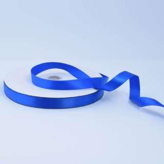 Стрічка атласна 15мм синя ультрамарин А2-05-098 на метраж (бобіна 100яр / 230г)
