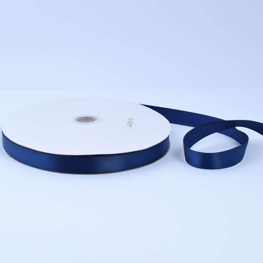 Лента атласная 15мм синяя темная А2-05-101 на метраж (бобина 100яр/230г)