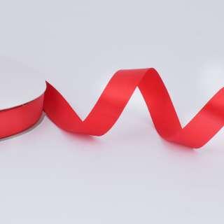 Стрічка атласна 20мм червона А2-06-039 на метраж (бобіна100яр / 283,3гр)