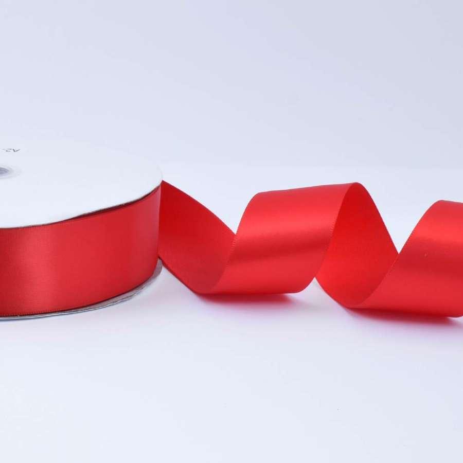 Лента атласная 40мм красная А2-12-039 на метраж (бобина 100яр/550г)