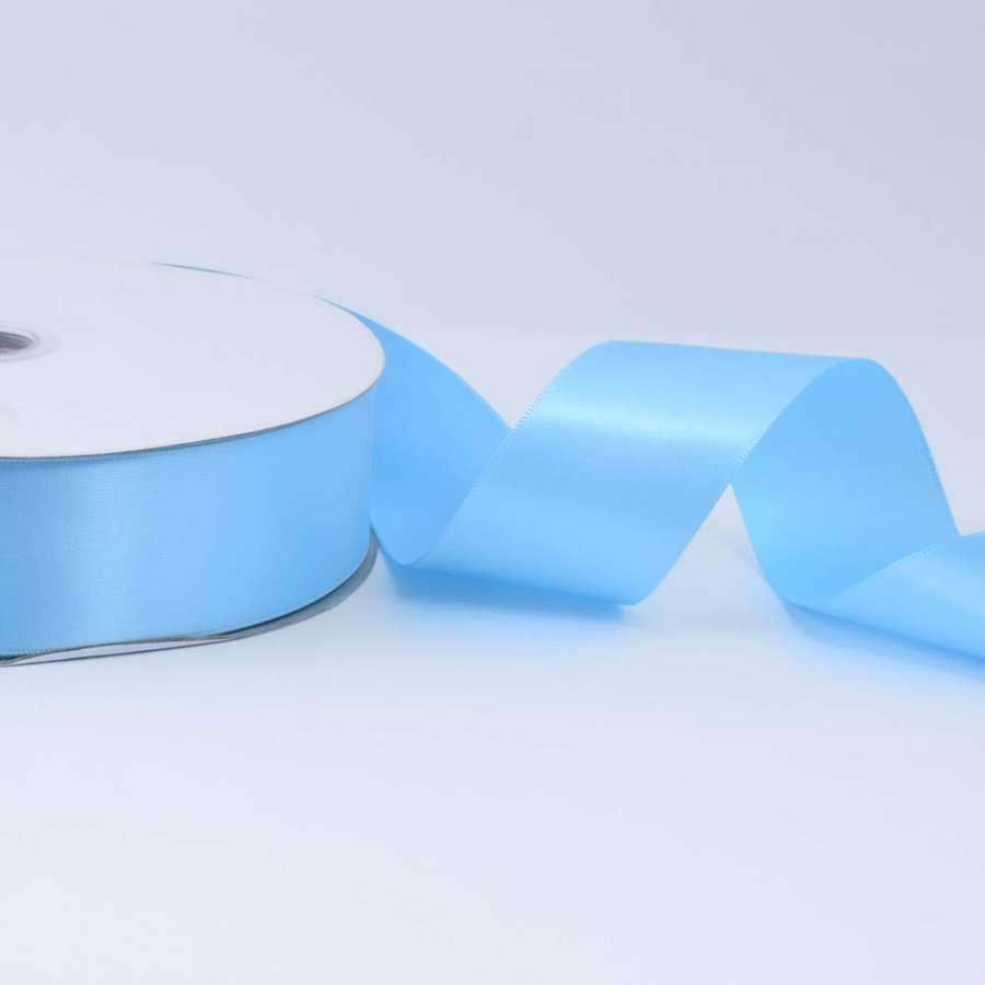 Лента атласная 40мм голубая светлая А2-12-085 на метраж (бобина 100яр/550г)