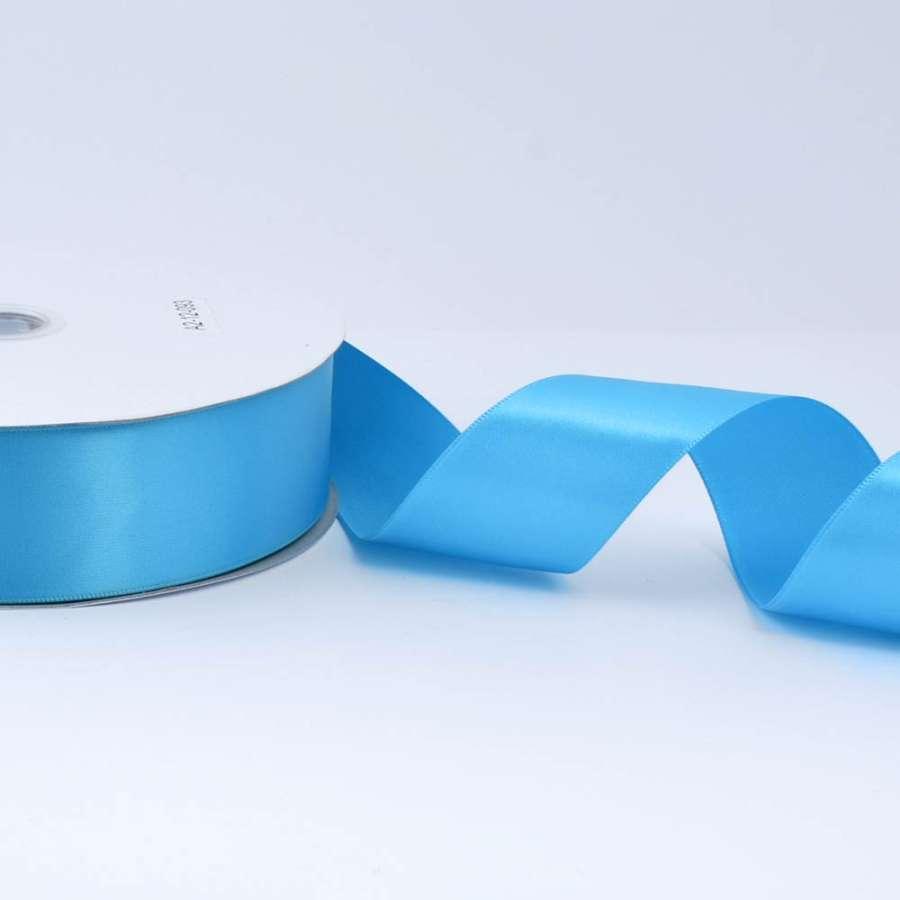 Лента атласная 40мм голубая А2-12-093 на метраж (бобина 100яр/550г)