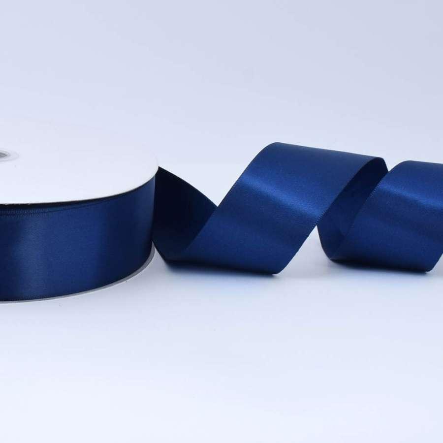 Лента атласная 40мм синяя темная А2-12-101 на метраж (бобина 100яр/550г)