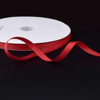 Лента репсовая ш.1 см А5-03-039 красная на метраж (в бобине 100яр/207г)