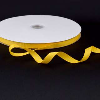 Лента репсовая ш.1 см А5-03-055 желтая на метраж (в бобине 100яр/207г)