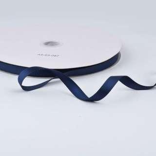 Лента репсовая ш.1 см А5-03-097 синяя темная на метраж (в бобине 100яр/207г)