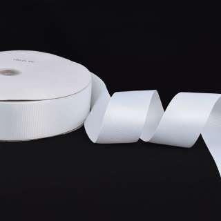 Лента репсовая ш.4 см А5-12-001 белая на метраж (в бобине 100яр/685г)