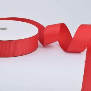 Лента репсовая ш.4 см А5-12-039 красная на метраж (в бобине 100яр/685г)