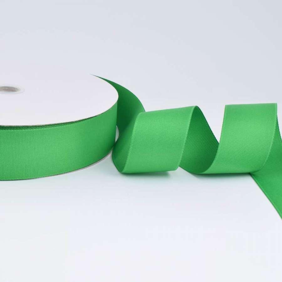 Стрічка репсова ш.4 см А5-12-060 зелена на метраж (в бобіні 100яр / 685г)