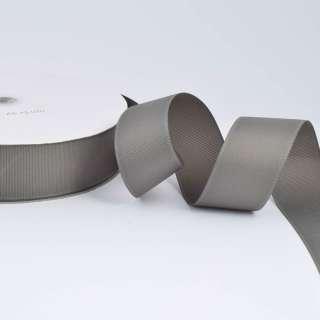 Лента репсовая ш.4 см А5-12-070 серая на метраж (в бобине 100яр/685г)