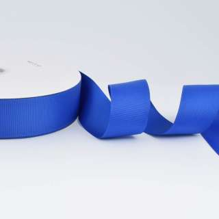 А5-12-094 репсова стрічка ш. 4 см синя ультрамарин на метраж (в бобіні 100яр / 685г)