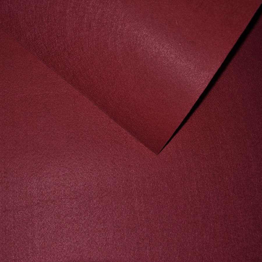 Фетр лист бордовий (0,9мм) 21х30см