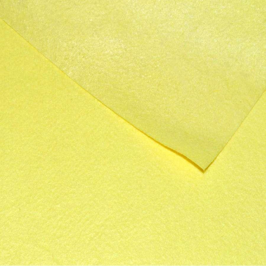 Фетр лист жовтий (0,9мм) 21х30см
