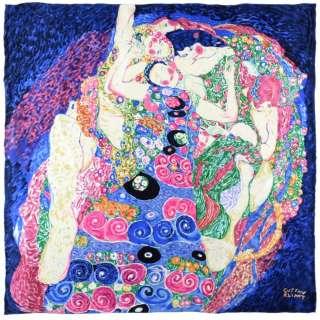 Платок шелковый 85х87 см Девы (Густав Климт)