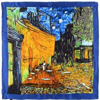 Платок шелковый 85х87 см Ночная терраса кафе (ван Гог)