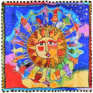 Хустка шовкова 85х87 см Хоровод навколо сонця (Лорел Берч)