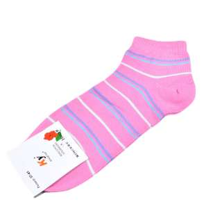 Носки розовые в бело-голубую полоску (1пара)