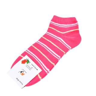 Носки розовые яркие в бело-желтую полоску (1пара)