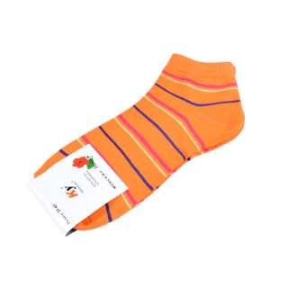 Носки оранжевые в красно-синюю полоску (1пара)