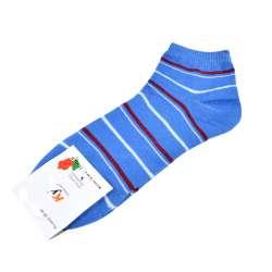 Носки голубые темные в бордово-голубую полоску (1пара)