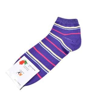 Шкарпетки фіолетові в жовто-малинову смужку (1пара)