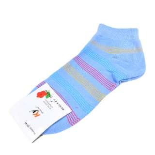 Шкарпетки бузково-блакитні в оранжево-червону смужку (1пара)