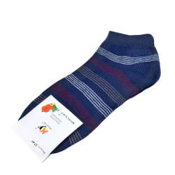 Носки синие в бело-бордовую полоску (1пара)