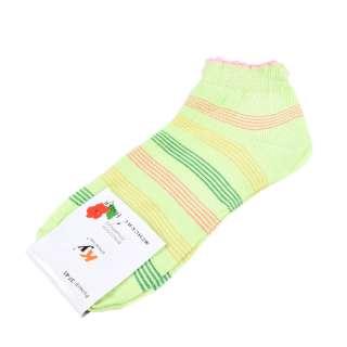 Носки салатовые в зелено-желтую полоску (1пара)