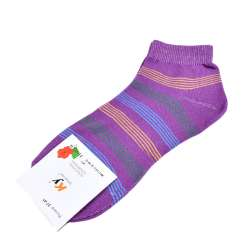 Носки фиолетовые в зелено-голубую полоску (1пара)