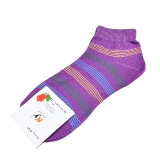 Шкарпетки фіолетові в зелено-блакитну смужку (1пара)